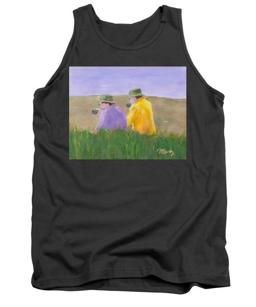 Afternoon Tea Tank Top by Patricia Cleasby