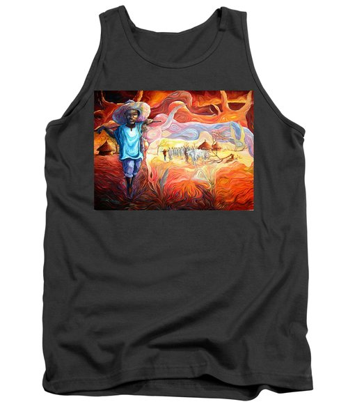 Agoi - The Sheperd Boy Tank Top by Bankole Abe