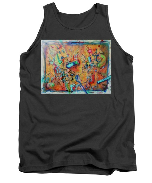 Digital Landscape, Airbrush 1 Tank Top