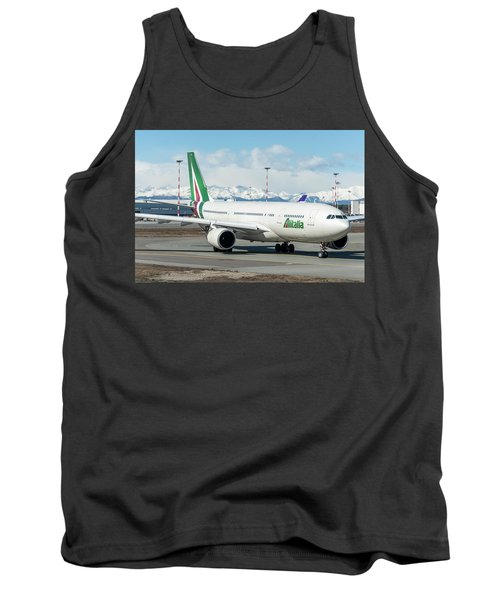 Airbus A330 Alitalia With New Livery  Tank Top