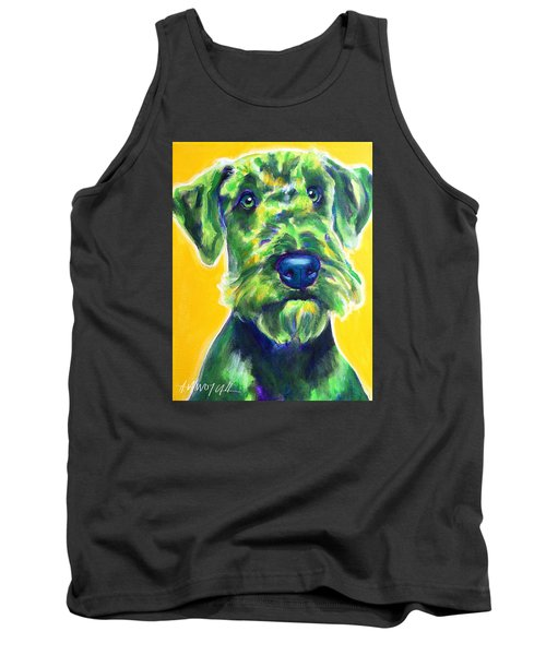 Airedale Terrier - Apple Green Tank Top