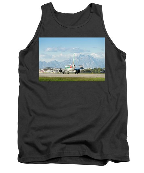 Airplane And Mountains Tank Top