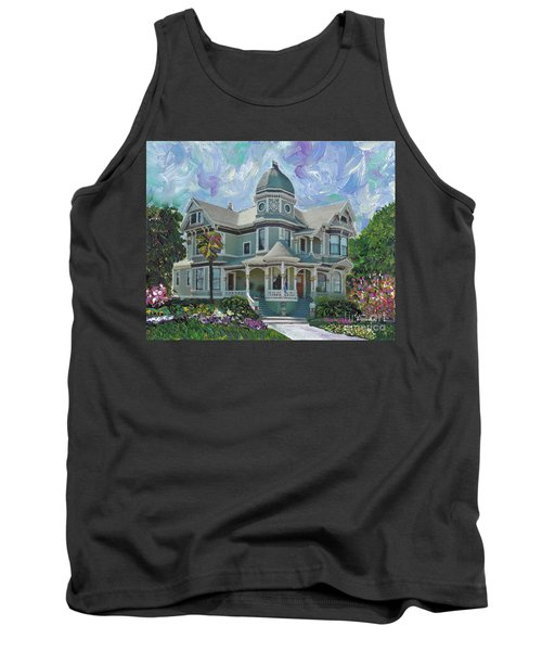 Tank Top featuring the painting Alameda 1893  Queen Anne  by Linda Weinstock