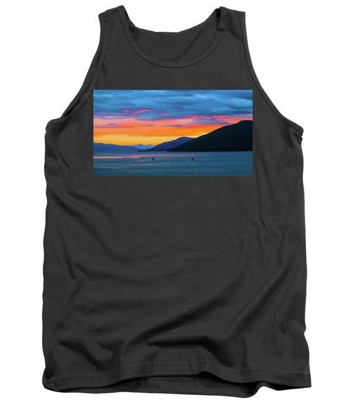 Alaska Fishermans Sunset Tank Top