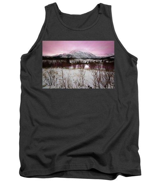 Alaska Range Pink Sky Tank Top