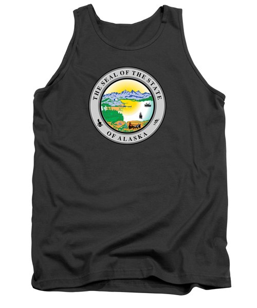 Alaska State Seal Tank Top by Movie Poster Prints