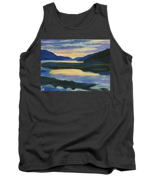 Tank Top featuring the painting Alaska Sunset, Juneau by Yulia Kazansky