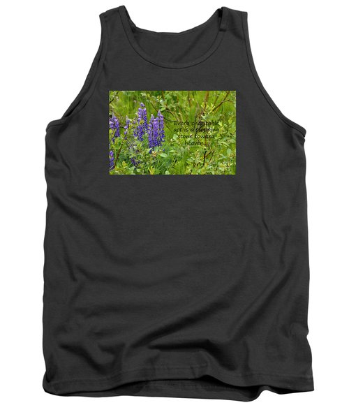 Tank Top featuring the photograph Alaskan Lupine Heaven by Diane E Berry