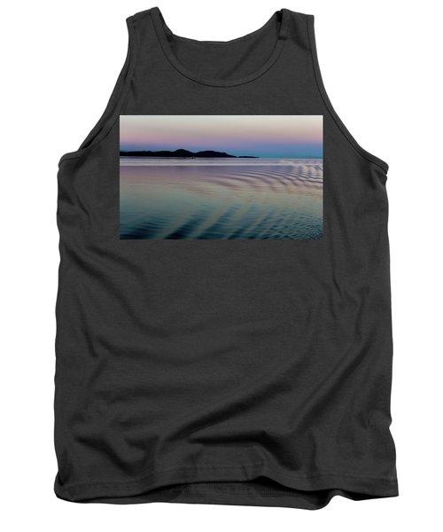 Alaskan Sunset At Sea Tank Top