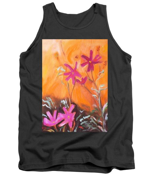Tank Top featuring the painting Alba Daisies by Winsome Gunning
