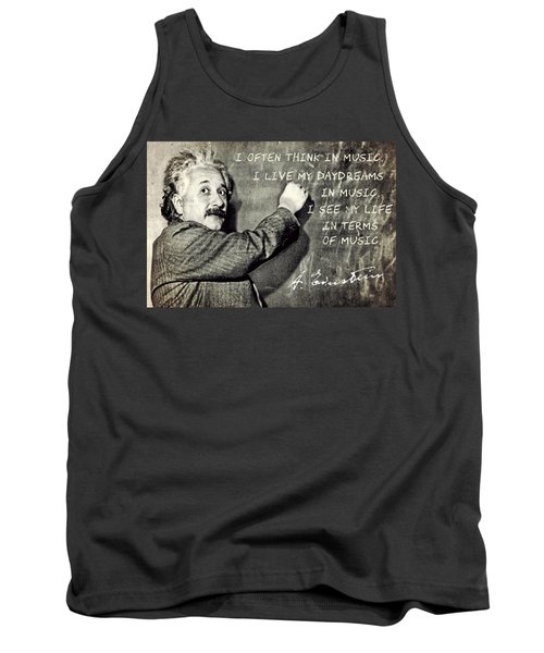 Albert Einstein, Physicist Who Loved Music Tank Top