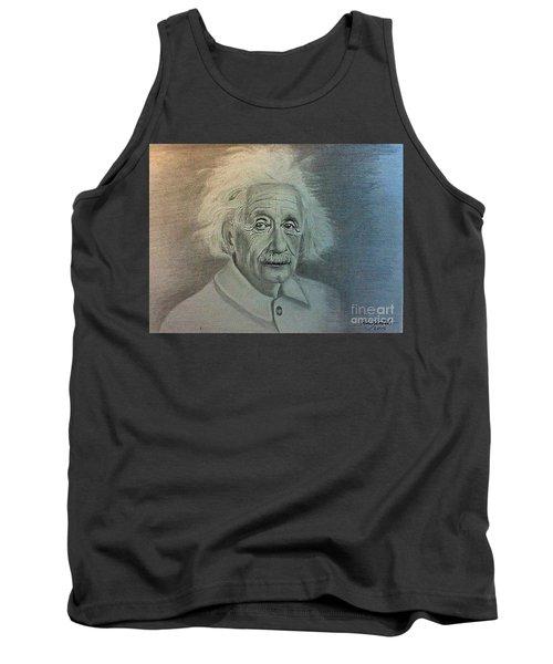 Albert Einstein Portrait Tank Top