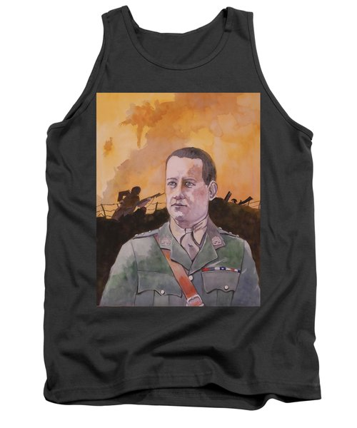 Tank Top featuring the painting Albert Jaka Vc by Ray Agius