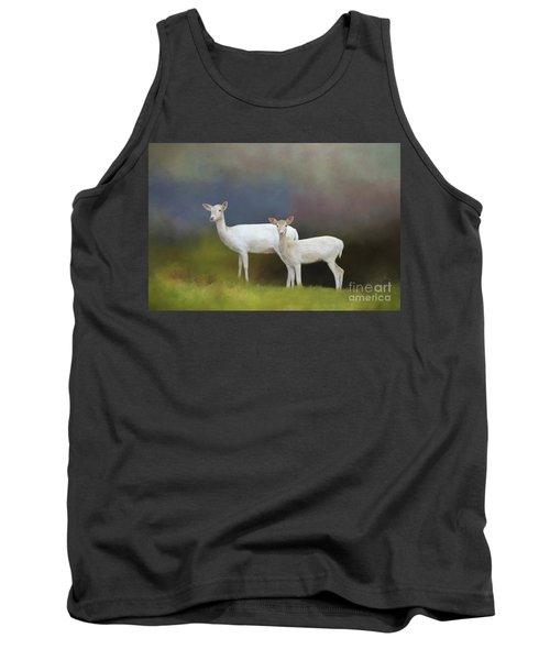 Albino Deer Tank Top by Marion Johnson