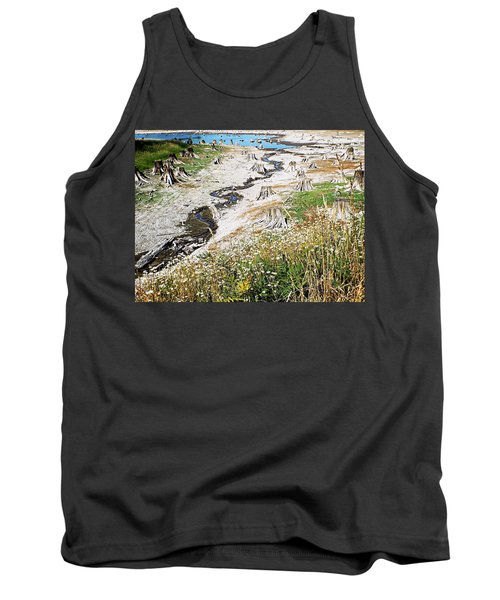 Tank Top featuring the photograph Alder Lake Stumps by Joseph Hendrix
