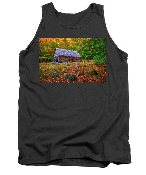 Alex Cole Cabin At Jim Bales Place, Roaring Fork Motor Trail In The Smoky Mountains Tennessee Tank Top