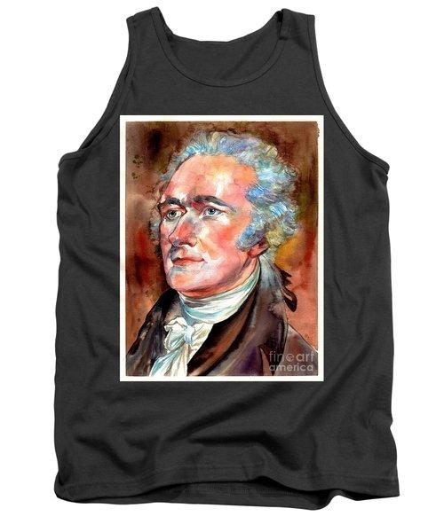 Alexander Hamilton Watercolor Tank Top