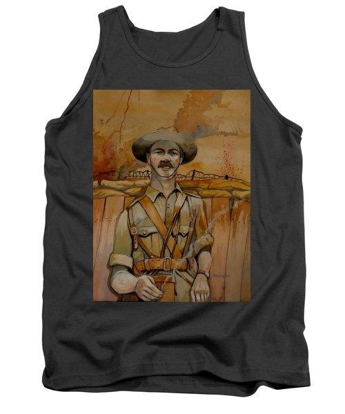 Tank Top featuring the painting Alfred Shout Vc by Ray Agius
