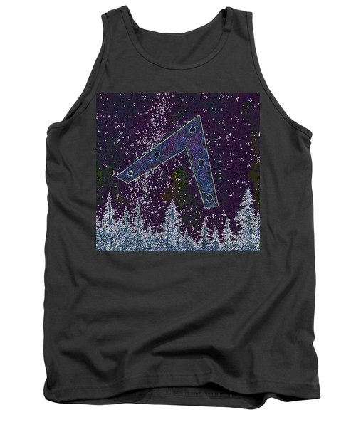 Tank Top featuring the painting Alien Skies Ufo by James Williamson