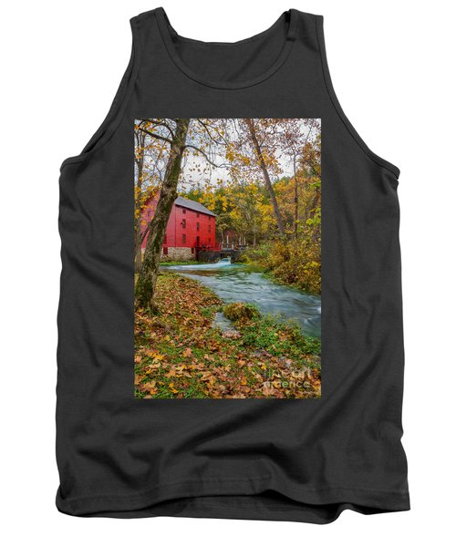 Alley Mill In Autumn Tank Top by Jennifer White