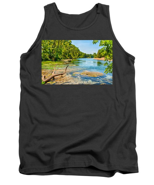 Tank Top featuring the photograph Alley Springs Scenic Bend by John M Bailey