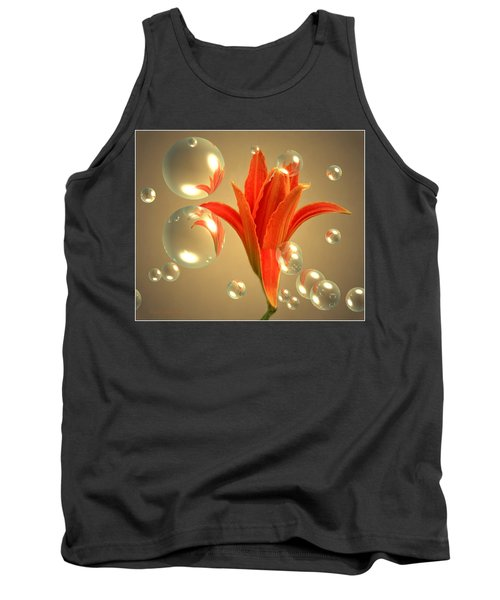 Tank Top featuring the photograph Almost A Blossom In Bubbles by Joyce Dickens