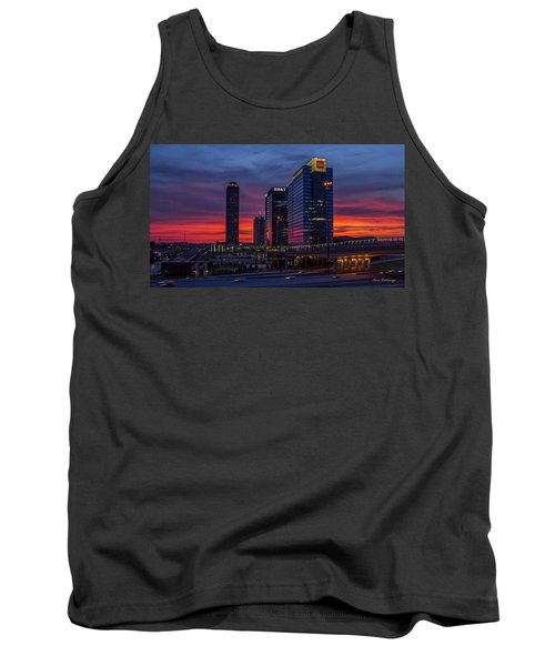 Almost Night Atlanta Midtown Cityscape Art Tank Top