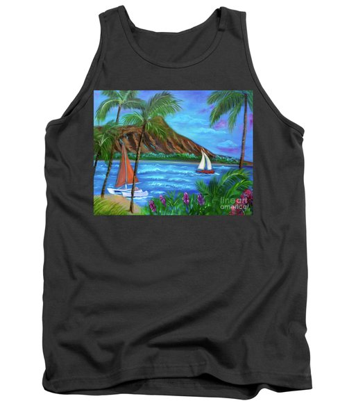 Aloha Diamond Head Tank Top by Jenny Lee