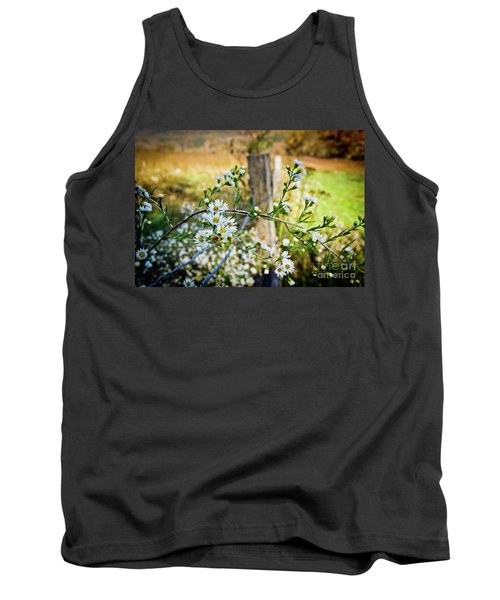 Tank Top featuring the photograph Along A Fence Row by Douglas Stucky