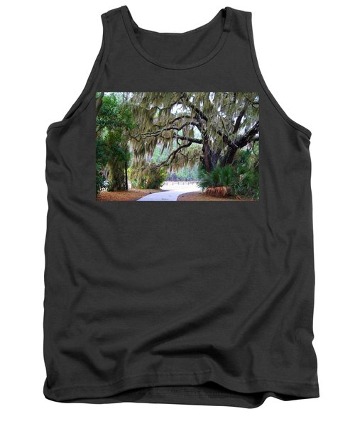 Tank Top featuring the photograph Along The Path by Kathryn Meyer