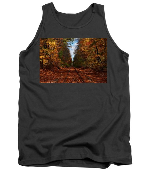 Along The Rails Tank Top by Tricia Marchlik