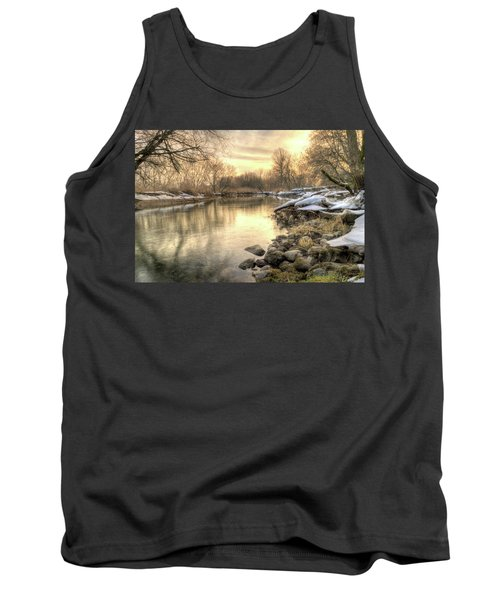 Along The Thames River Signed Tank Top