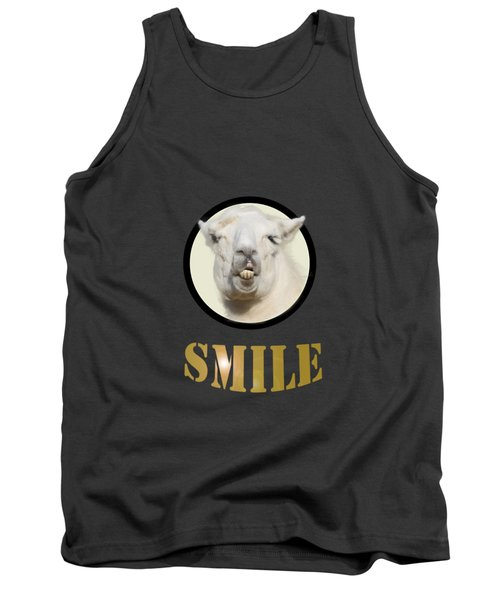 Alpaca Smile  Tank Top by Rob Hawkins