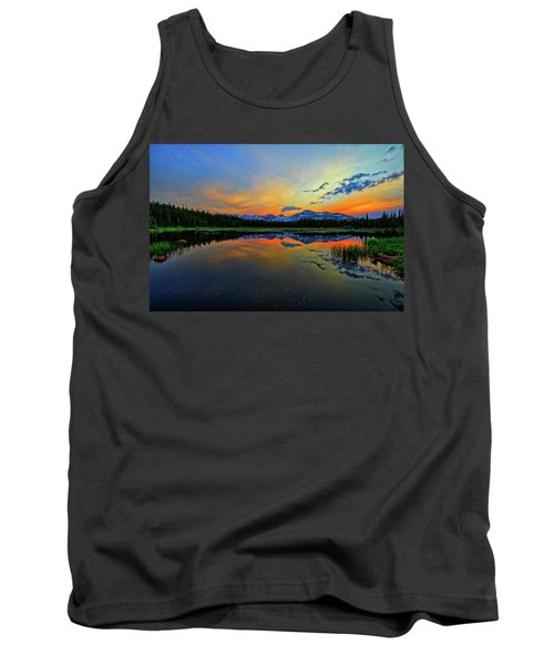 Tank Top featuring the photograph Alpine Lake Glow by Scott Mahon