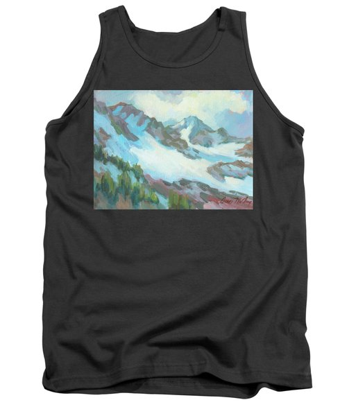 Tank Top featuring the painting Alps In Switzerland by Diane McClary