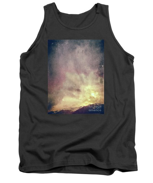 Tank Top featuring the photograph Alps With Dramatic Sky by Silvia Ganora