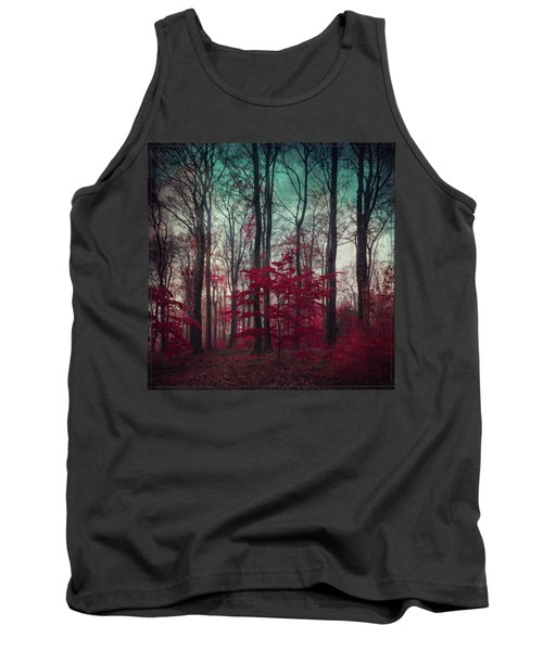 A.maze - Enchanted Red Forest Tank Top