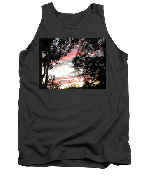 Amazing Clouds Black Trees Tank Top