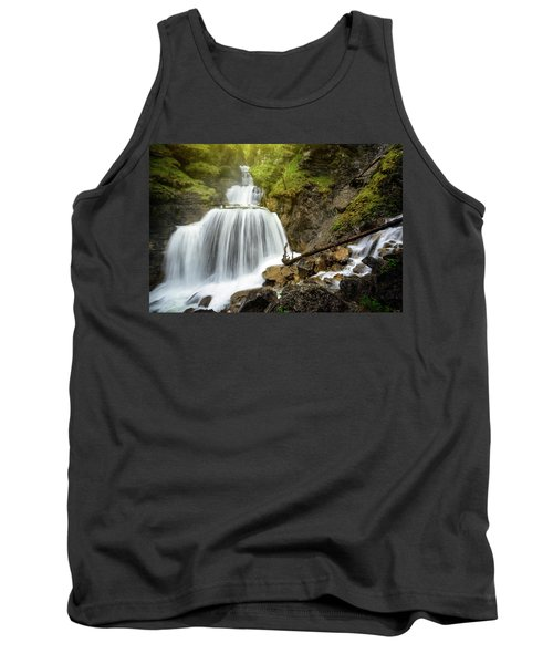 Amazing Mountain Waterfall Near Farchant Village At Garmisch Partenkirchen, Farchant, Bavaria, Germany. Tank Top