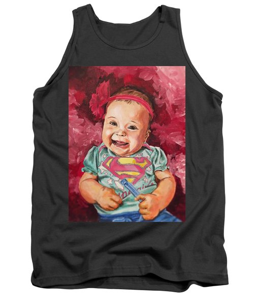 Tank Top featuring the painting Amelia by Joel Tesch