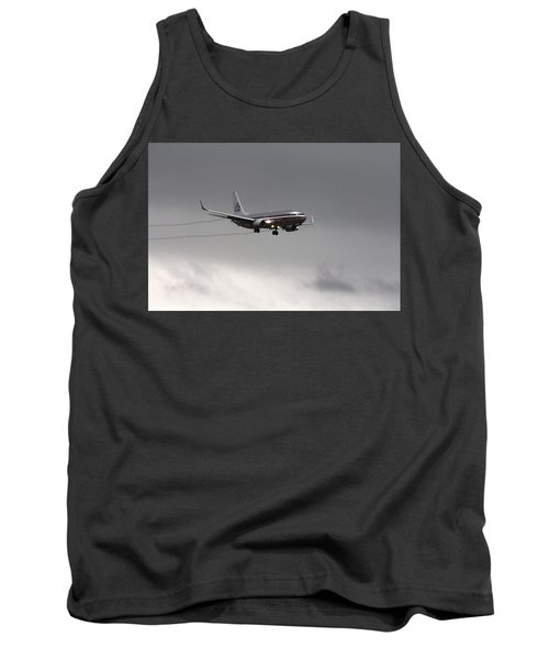 American Airlines-landing At Dfw Airport Tank Top