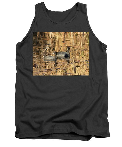 Tank Top featuring the photograph American Coots by Jerry Battle