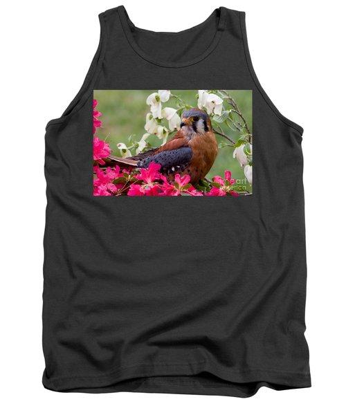 American Kestrel In The Springtime Tank Top