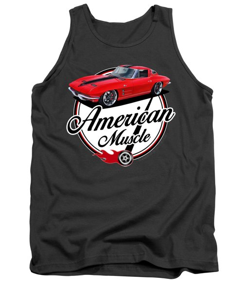 American Muscle In Red Tank Top