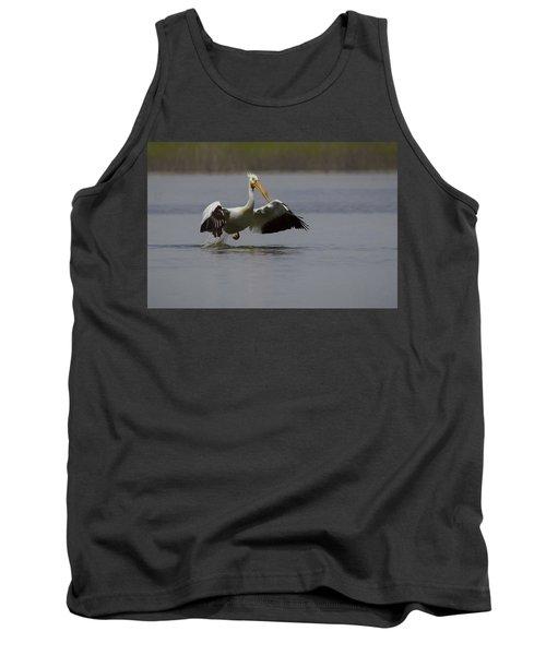 American White Pelican Da Tank Top by Ernie Echols