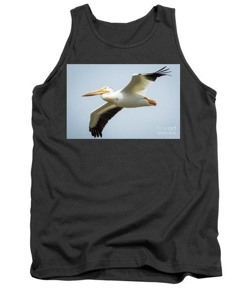 American White Pelican Flyby  Tank Top