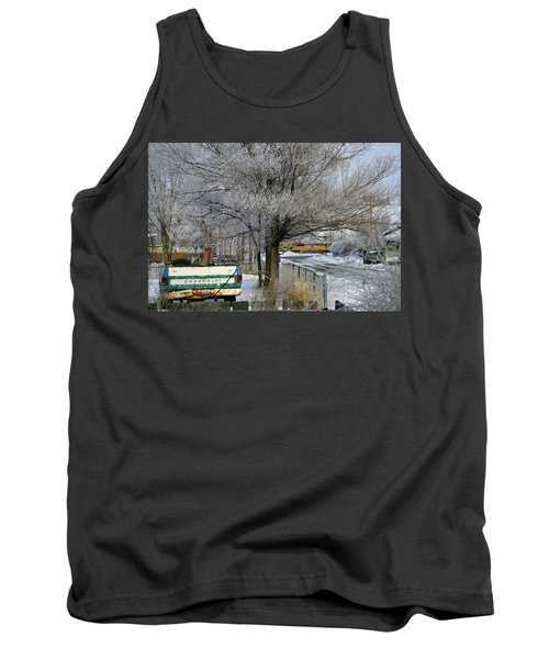 Americana And Hoarfrost Tank Top by Eric Nielsen