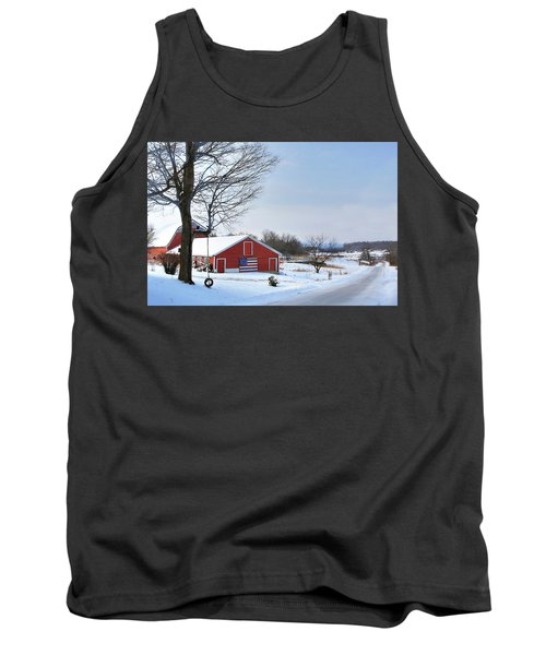 Americana Barn In Vermont Tank Top by Sharon Batdorf