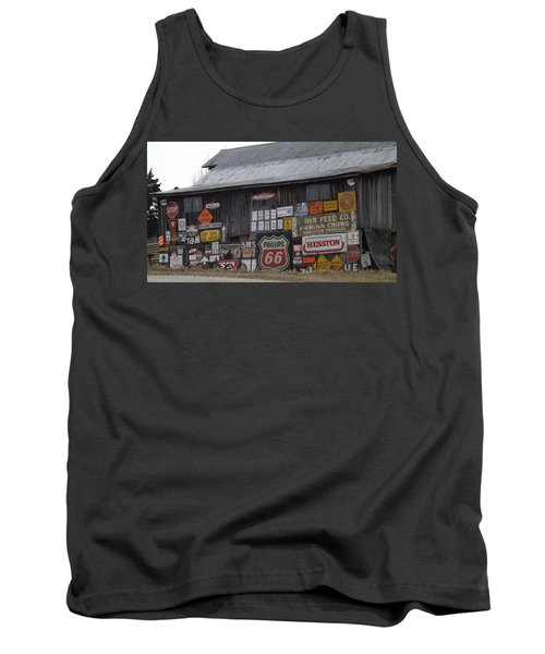 Americana Signs Tank Top by Don Koester