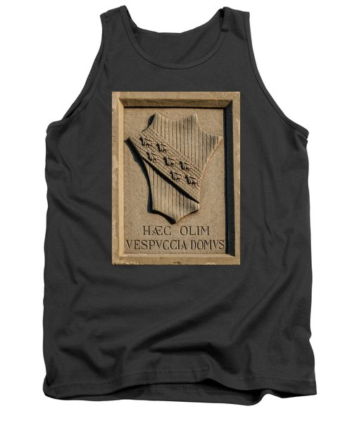 Amerigo Vespucci Lived Here Tank Top